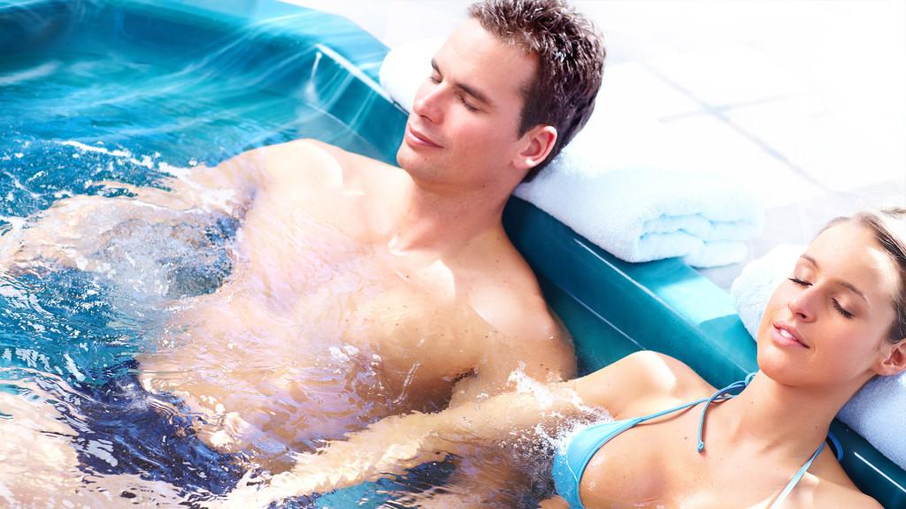 Originellement, le spa est une sorte de baignoire à remous.