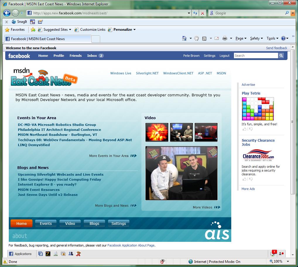 Les applications facebook sont de deux types. Elles peuvent soit être une application facebook canvas, soit une iFrame.